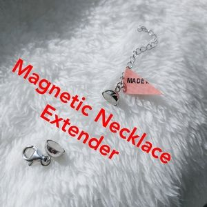 """Magnetic"" Necklace Extender, sterling silver"